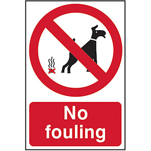 "Spectrum Industrial Vandal-Resistant ""No Fouling"" Sign"