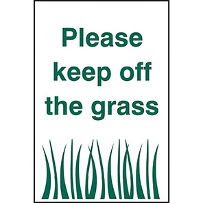 """Spectrum Industrial """"Please Keep Off the Grass"""" Sign"""
