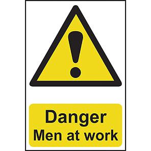 Danger Men At Work Signs