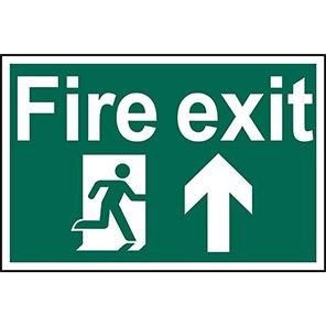"Spectrum Industrial ""Fire Exit"" Up Arrow Sign 400mm x 600mm"