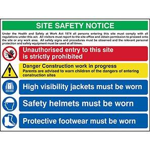 Spectrum Industrial Site Safety Notice Sign