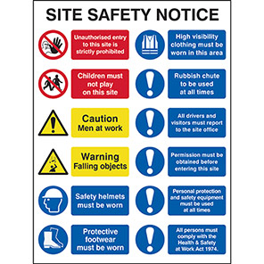 Spectrum Industrial Foamex Multiple Message Site Safety Sign 600mm x 800mm