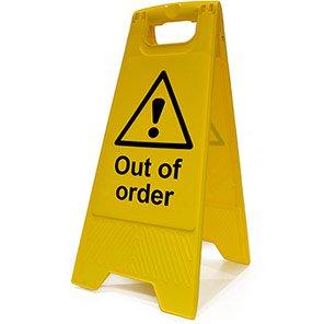 "Spectrum Industrial Heavy-Duty ""Out of Order"" A-Board"