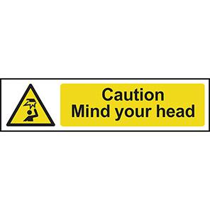 Caution Mind Your Head Hazard Sign
