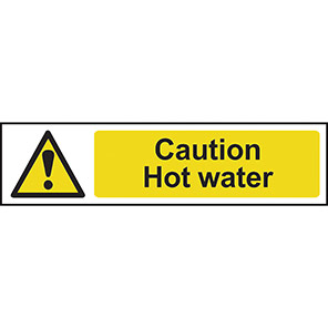 "Spectrum Industrial PVC ""Caution Hot Water"" Sign"
