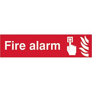 "Spectrum Industrial PVC ""Fire Alarm"" Sign 50mm x 200mm"