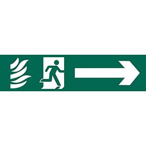 Spectrum Industrial PVC Right Running Man Sign 50mm x 200mm