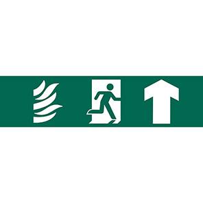 Spectrum Industrial Up Arrow Fire Exit Sign 50mm x 200mm