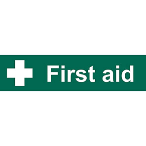 """Spectrum Industrial """"First Aid"""" Sign 50mm x 200mm"""