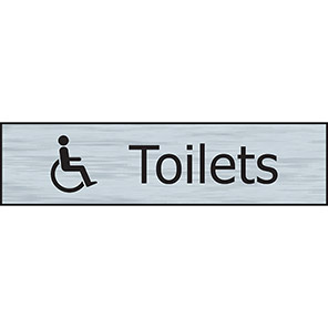 Spectrum Industrial Self-Adhesive Disabled Toilets Sign