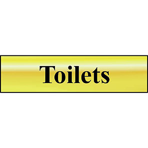 """Spectrum Industrial Self-Adhesive """"Toilets"""" Sign"""