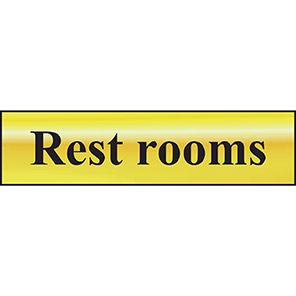 "Spectrum Industrial Self-Adhesive ""Rest Rooms"" Sign"