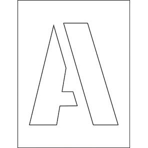 Spectrum Industrial 200mm Letters Stencil Set