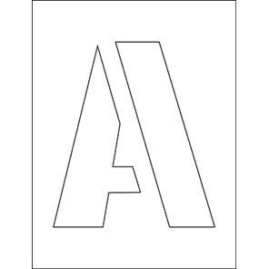 Spectrum Industrial 250mm Letters Stencil Set