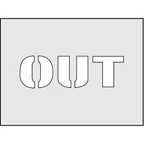 "Spectrum Industrial ""Out"" Stencil 190mm x 300mm"