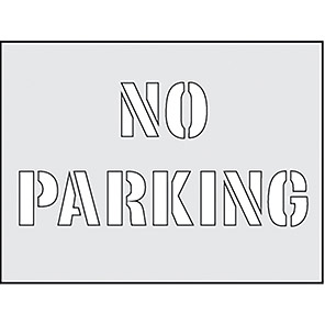 """Spectrum Industrial """"No Parking"""" Stencil 190mm x 300mm"""