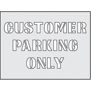 "Spectrum Industrial ""Customer Parking Only"" Stencil 190mm x 300mm"