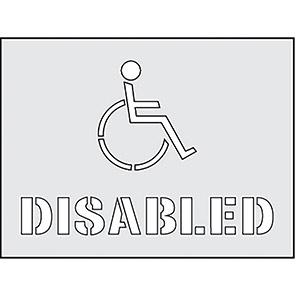 "Spectrum Industrial ""Disabled"" Stencil 190mm x 300mm"