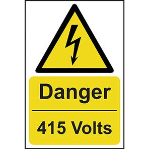 "Spectrum Industrial ""Danger 415 Volts"" Sign"