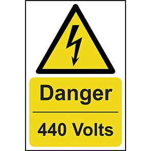 "Spectrum Industrial ""Danger 440 Volts"" Sign"