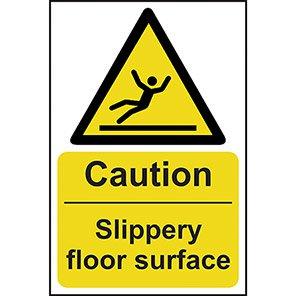 "Spectrum Industrial PVC ""Caution Slippery Floor Surface"" Sign"