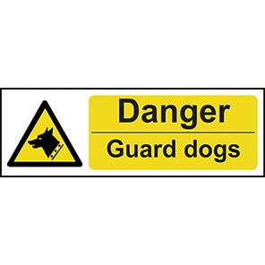 """Spectrum Industrial """"Danger Guard Dogs"""" Hazard Sign"""