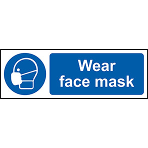 Wear Face Mask Sign