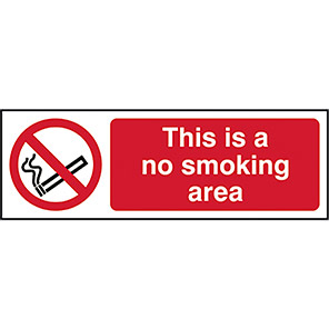 This Is A No Smoking Area Signs