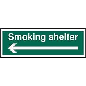 Smoking Shelter Arrow Left Signs