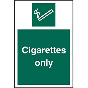 Cigarettes Only Signs