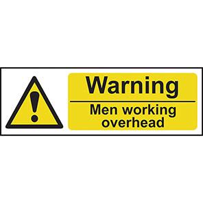 """Spectrum Industrial """"Warning Men Working Overhead"""" Sign"""