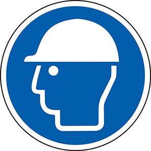 Spectrum Industrial Safety Helmet Symbol Floor Graphic