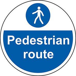 "Spectrum Industrial ""Pedestrian Route"" Floor Graphic"