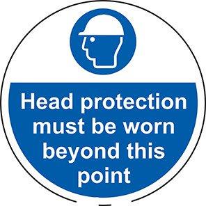 "Spectrum Industrial ""Head Protection Must Be Warn Beyond..."" Floor Graphic"
