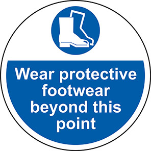 "Spectrum Industrial ""Wear Protective Footwear Beyond this Point"" Floor Graphic"