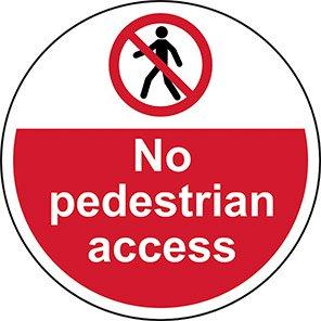 """Spectrum Industrial """"No Pedestrian Access"""" Floor Graphic"""