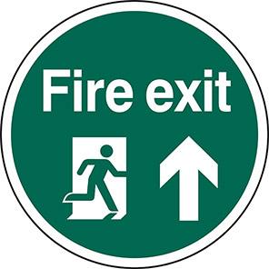 Spectrum Industrial Up Arrow Fire Exit Floor Graphic