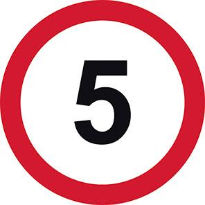 Permanent 5 mph Road Signs