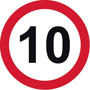 Permanent 10 mph Road Signs