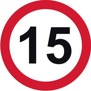 Permanent 15 mph Road Signs