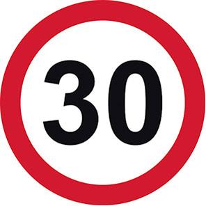 Permanent 30 mph Road Signs
