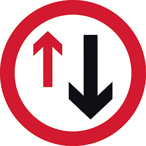 Give Way to Oncoming Traffic Road Sign