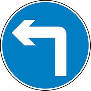 Left Turn Permanent Road Sign