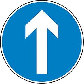 Vertical Arrow Permanent Road Sign