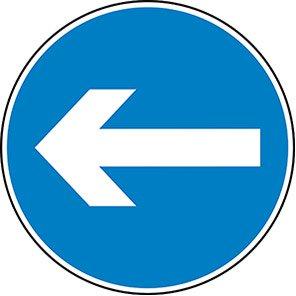 Horizontal Arrow Permanent Road Sign