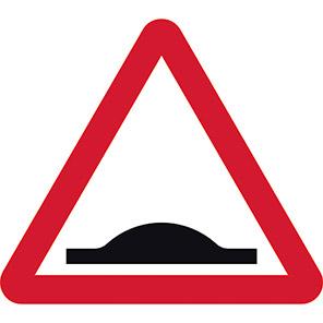 Road Humps Permanent Road Sign