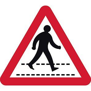 Pedestrian Walkway Permanent Road Sign