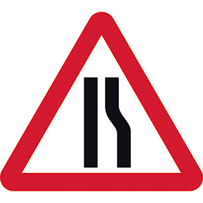 Road Narrows Right Permanent Road Sign