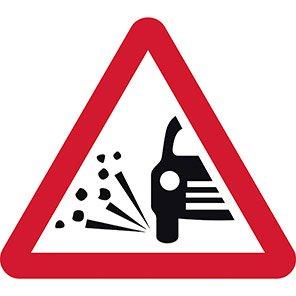 Loose Gravel Permanent Road Sign