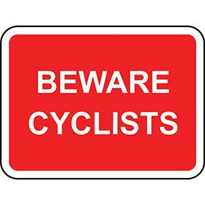 Beware Cyclists Road Signs